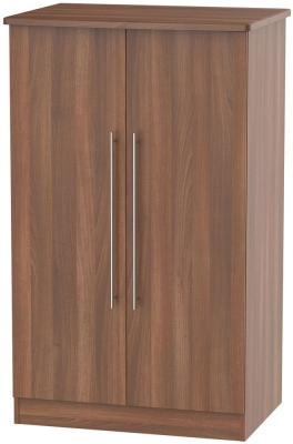 Sherwood Noche Walnut 2 Door Midi Wardrobe