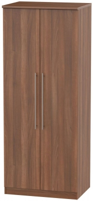 Sherwood Noche Walnut Wardrobe - 2ft 6in with Plain