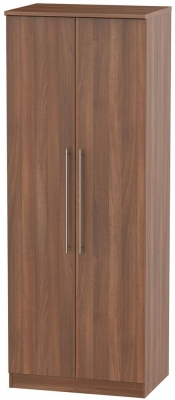 Sherwood Noche Walnut Wardrobe - Tall 2ft 6in with Plain