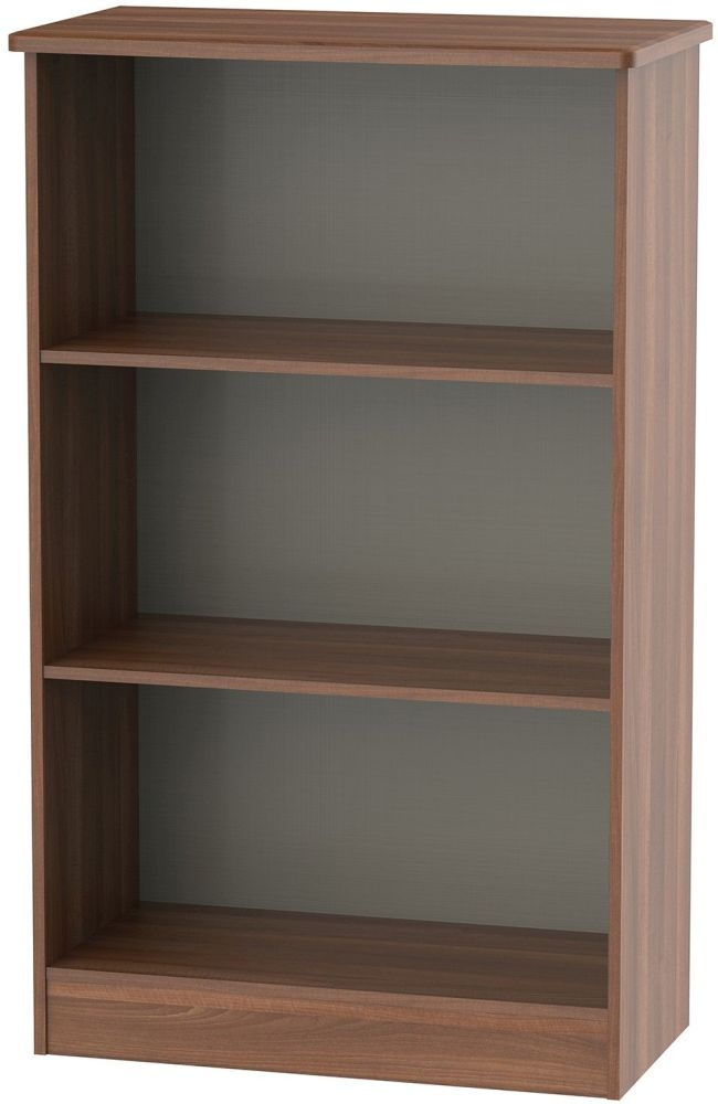 Sherwood Noche Walnut Bookcase - 2 Shelves