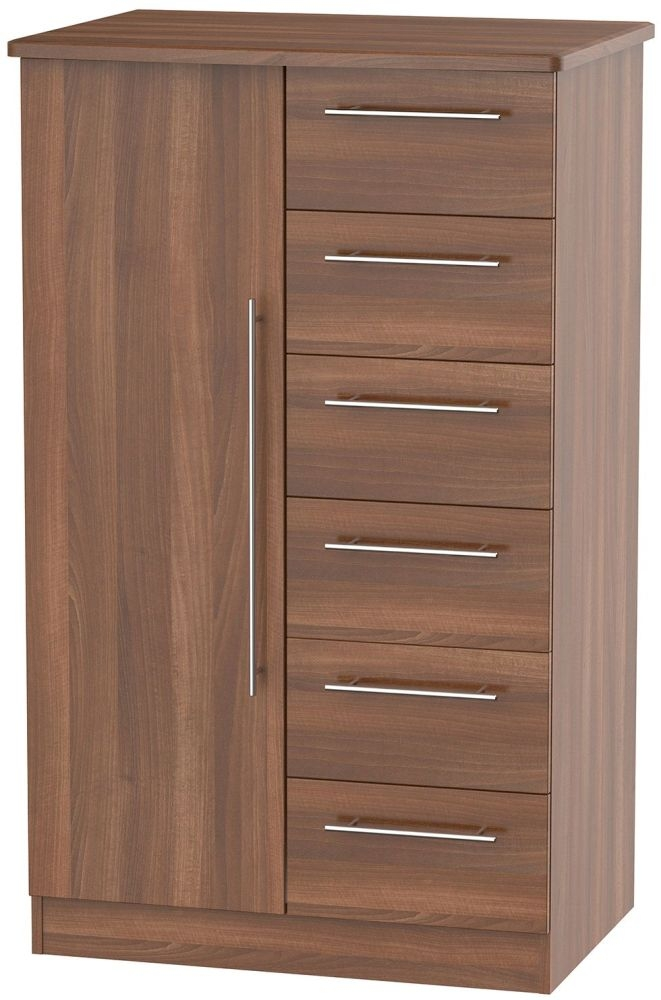Sherwood Noche Walnut 1 Door Children Wardrobe