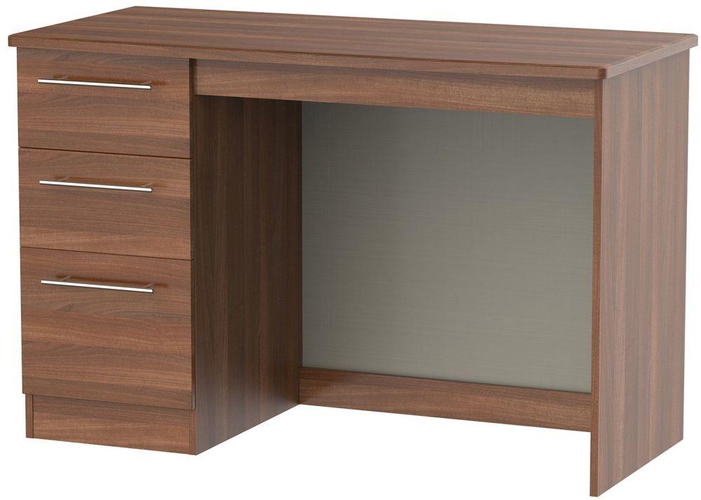 Sherwood Noche Walnut Desk - 3 Drawer