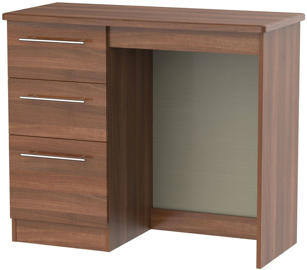 Sherwood Noche Walnut Dressing Table - Vanity Knee Hole
