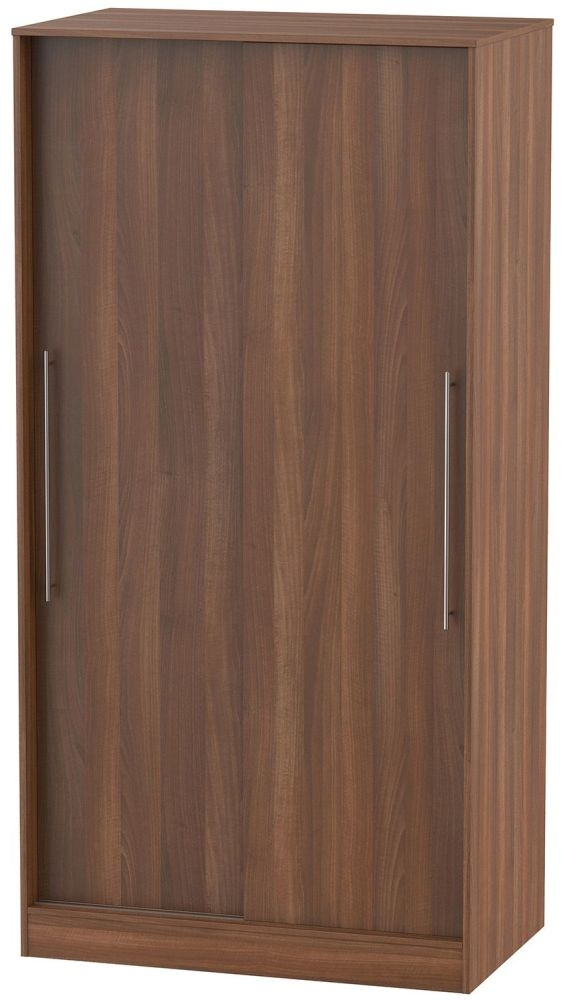 Sherwood Noche Walnut Sliding Wardrobe - Wide