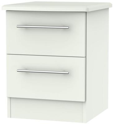 Sherwood Porcelain Matt 2 Drawer Locker Bedside Cabinet
