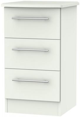 Sherwood Porcelain Matt 3 Drawer Locker Bedside Cabinet