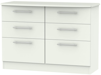 Sherwood Porcelain Matt 6 Drawer Midi Chest