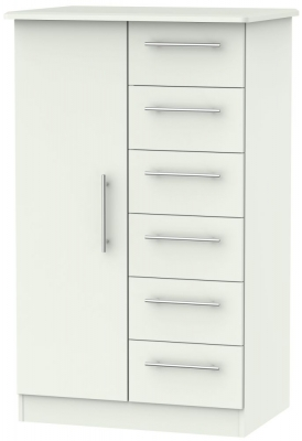 Sherwood Porcelain Matt 1 Door 6 Drawer Children Wardrobe