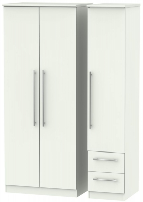 Sherwood Porcelain Matt 3 Door 2 Drawer Triple Wardrobe