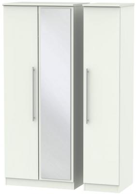 Sherwood Porcelain Matt 3 Door Mirror Triple Wardrobe