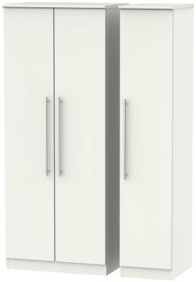 Sherwood Porcelain Matt 3 Door Plain Triple Wardrobe