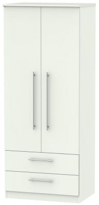 Sherwood Porcelain Matt 2 Door 2 Drawer Wardrobe