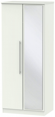 Sherwood Porcelain Matt 2 Door Mirror Wardrobe