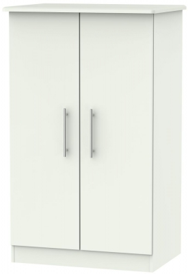 Sherwood Porcelain Matt 2 Door Plain Midi Wardrobe