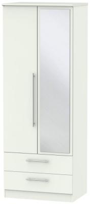 Sherwood Porcelain Matt 2 Door 2 Drawer Tall Combi Wardrobe