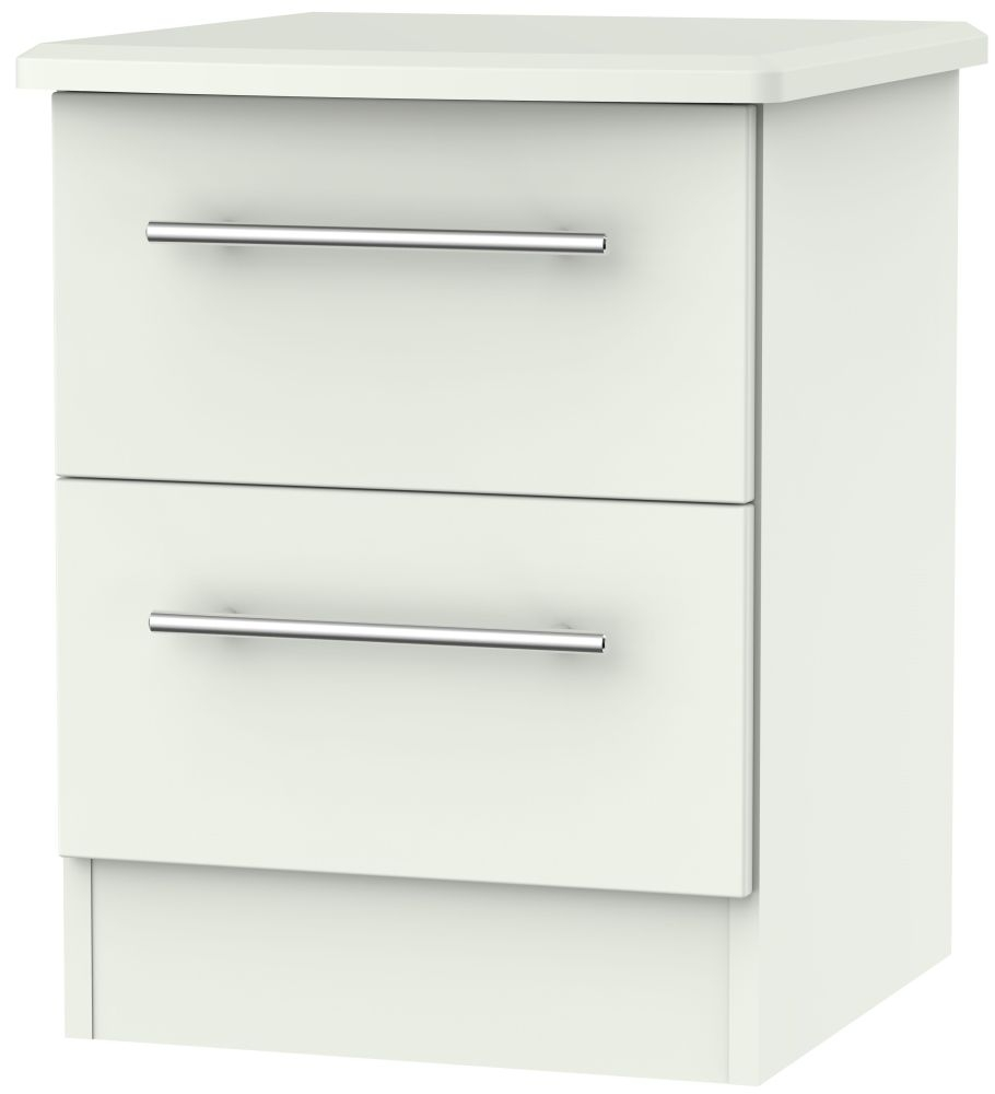 Sherwood Porcelain Matt 2 Drawer Locker Bedside Cabinet