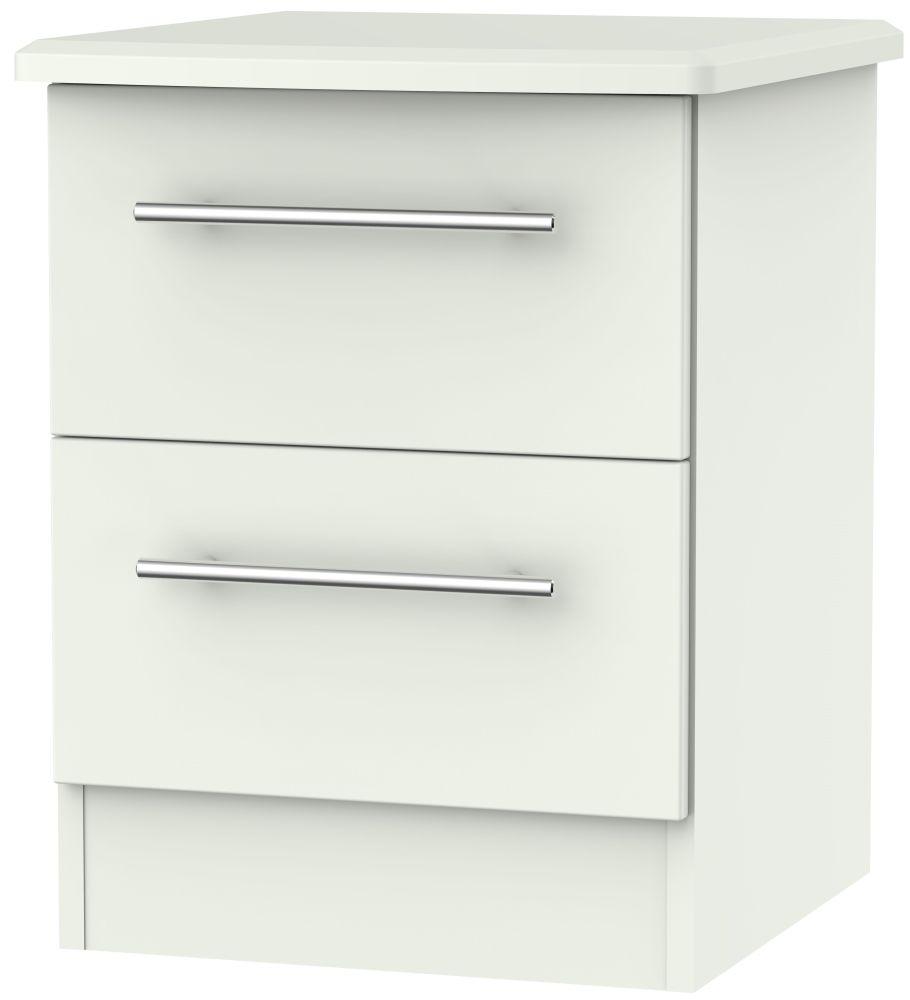 Sherwood Porcelain Matt 2 Drawer Bedside Cabinet