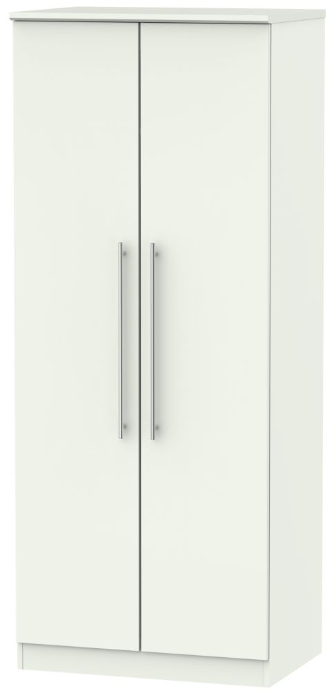 Sherwood Porcelain Matt 2 Door Plain Wardrobe