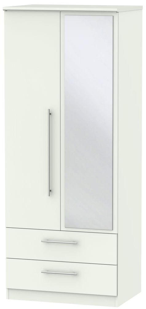 Sherwood Porcelain Matt 2 Door Combi Wardrobe