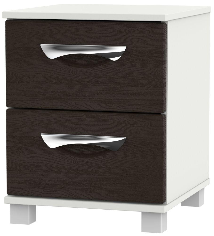 Somerset Graphite Klein 2 Drawer Locker Bedside Cabinet