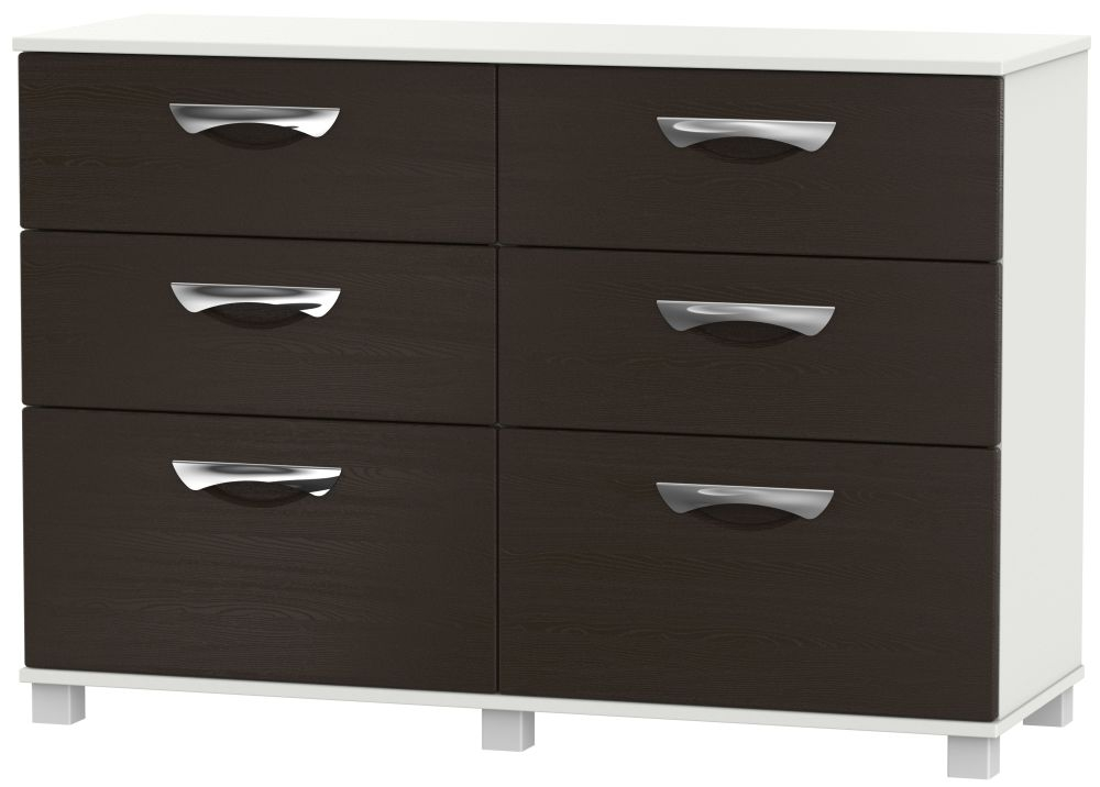 Somerset Graphite Klein 6 Drawer Midi Chest