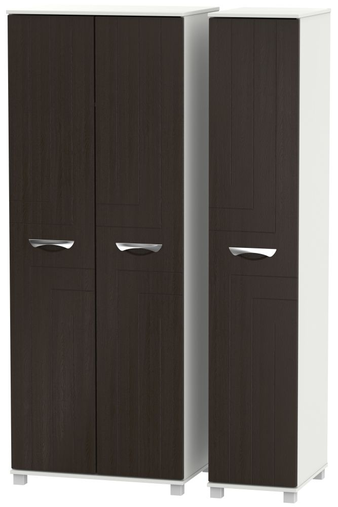 Somerset Graphite Klein Triple Wardrobe - Tall Plain