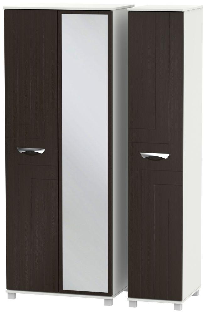 Somerset Graphite Klein 3 Door Tall Mirror Triple Wardrobe