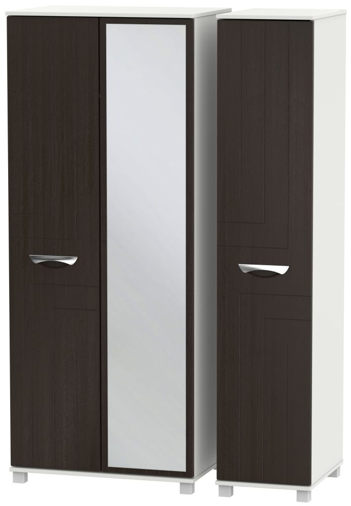 Somerset Graphite Klein Triple Wardrobe with Mirror