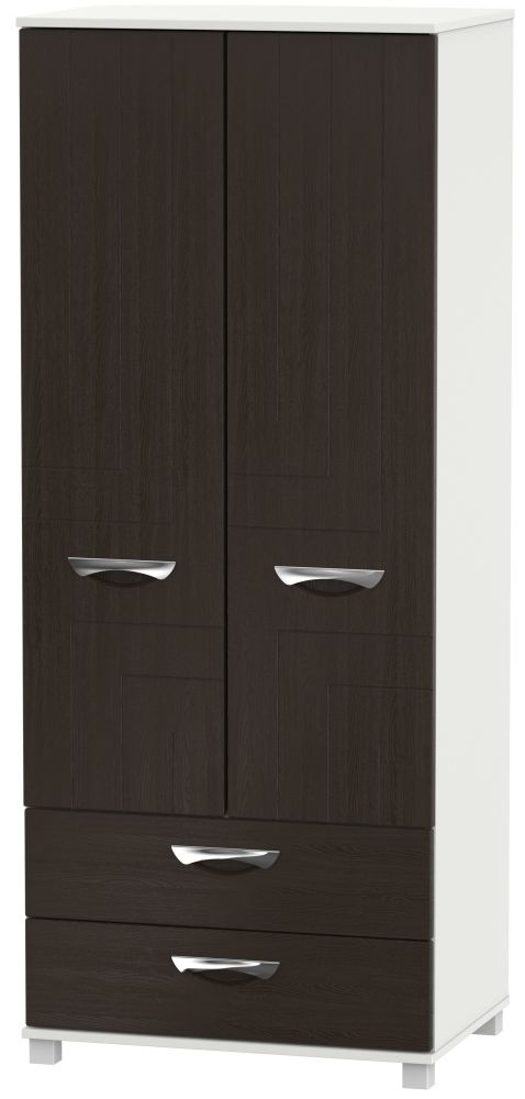 Somerset Graphite Klein 2 Door 2 Drawer Wardrobe