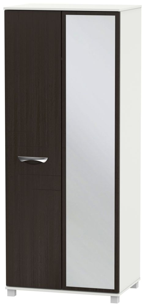 Somerset Graphite Klein 2 Door Mirror Wardrobe
