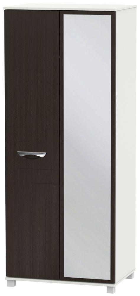 Somerset Graphite Klein 2 Door Mirror Wardrobe