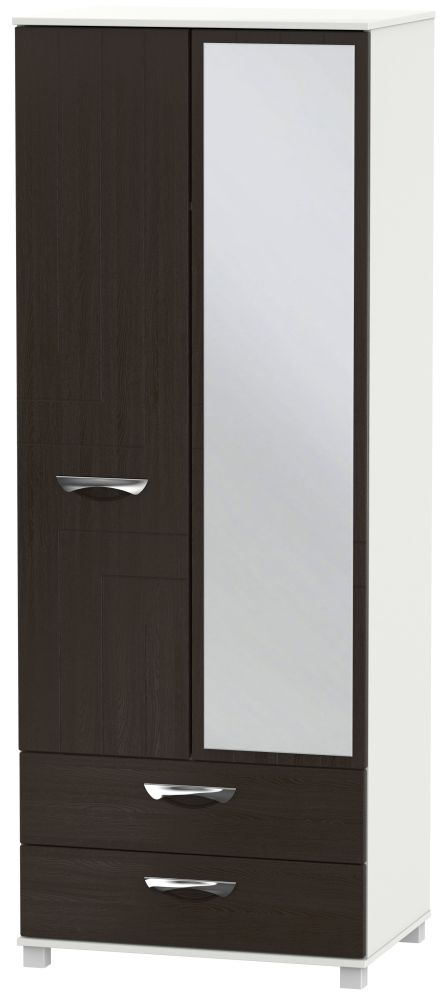 Somerset Graphite Klein 2 Door Combi Wardrobe