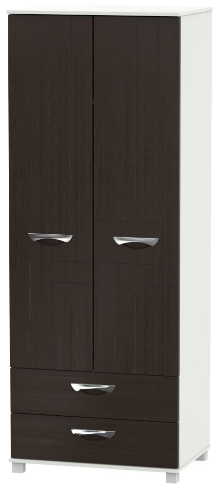 Somerset Graphite Klein 2 Door 2 Drawer Tall Double Wardrobe