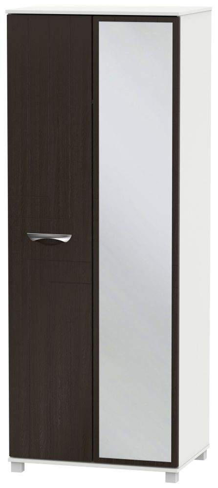 Somerset Graphite Klein 2 Door Tall Mirror Double Wardrobe