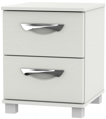 Somerset Light Grey Klein 2 Drawer Bedside Cabinet