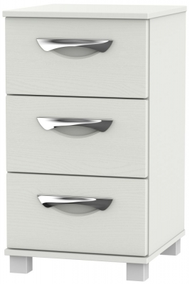 Somerset Light Grey Klein 3 Drawer Bedside Cabinet