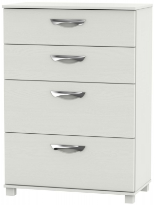 Somerset Light Grey Klein 4 Drawer Deep Chest