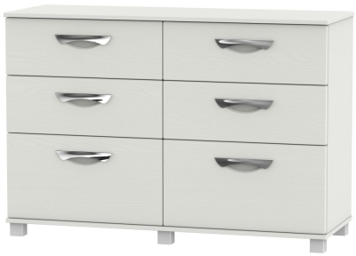 Somerset Light Grey Klein 6 Drawer Midi Chest