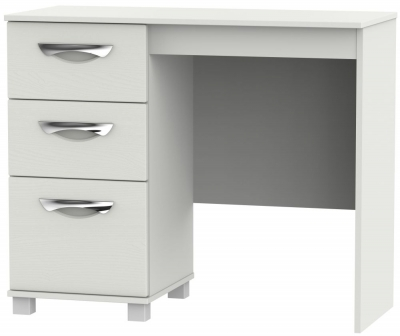 Somerset Light Grey Klein Single Pedestal Dressing Table