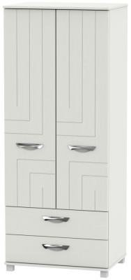 Somerset Light Grey Klein 2 Door 2 Drawer Wardrobe