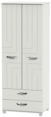 Somerset Light Grey Klein 2 Door 2 Drawer Tall Wardrobe