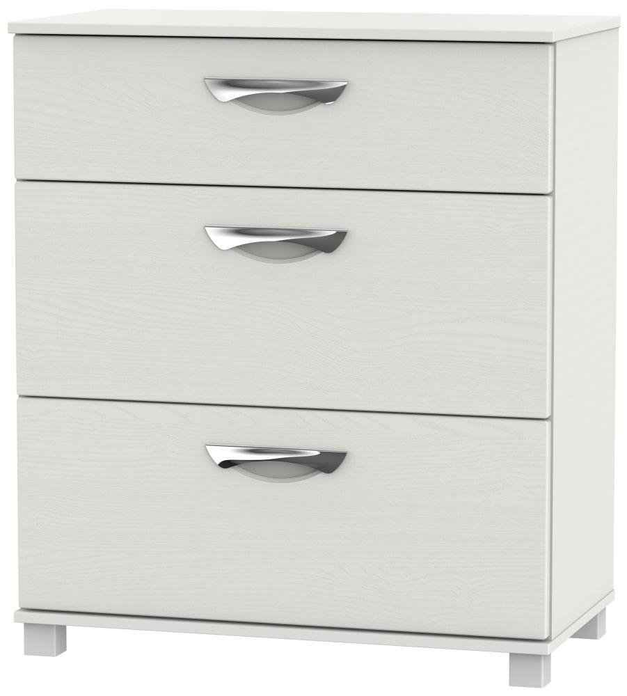 Somerset Light Grey Klein Chest of Drawer - 3 Drawer Deep