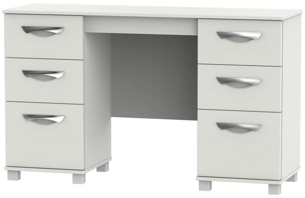 Somerset Light Grey Klein Double Pedestal Dressing Table
