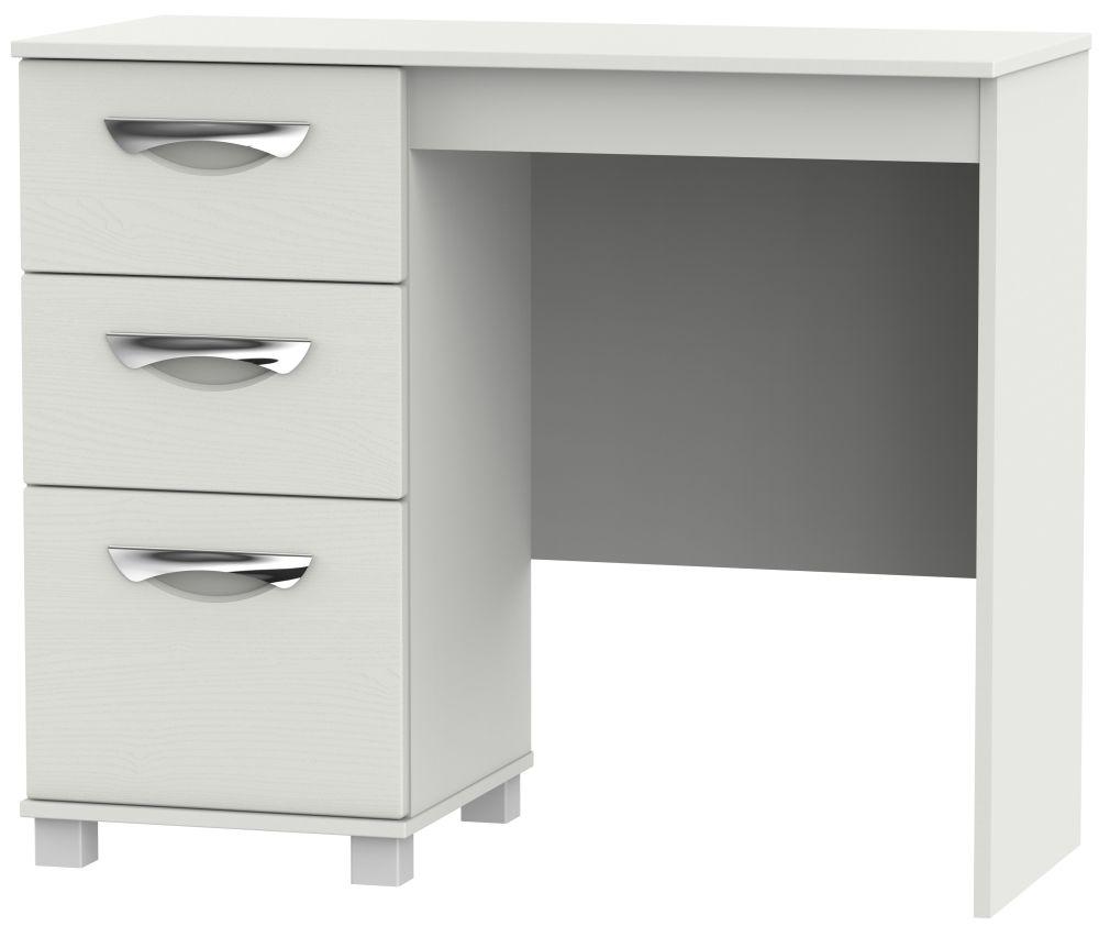 Somerset Light Grey Klein Single Pedestal Dressing Table