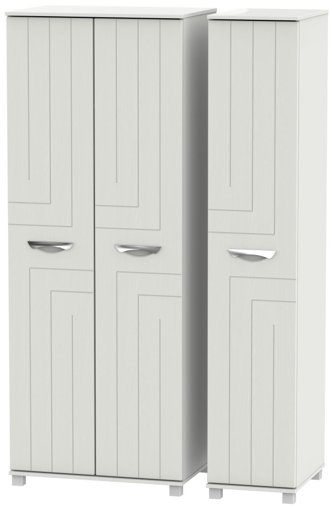Somerset Light Grey Klein 3 Door Tall Wardrobe