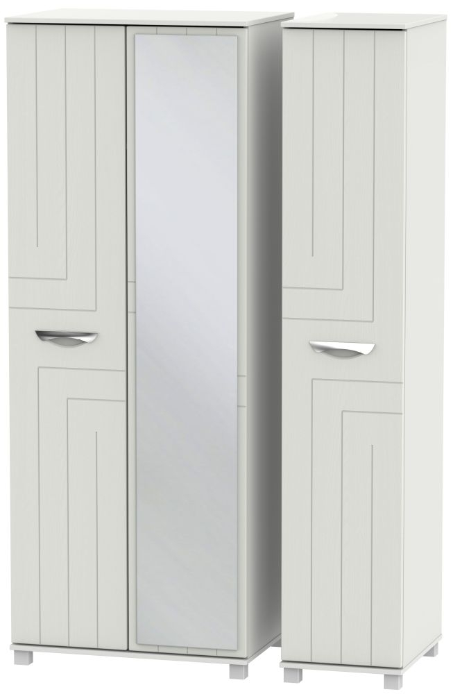 Somerset Light Grey Klein 3 Door Tall Mirror Triple Wardrobe