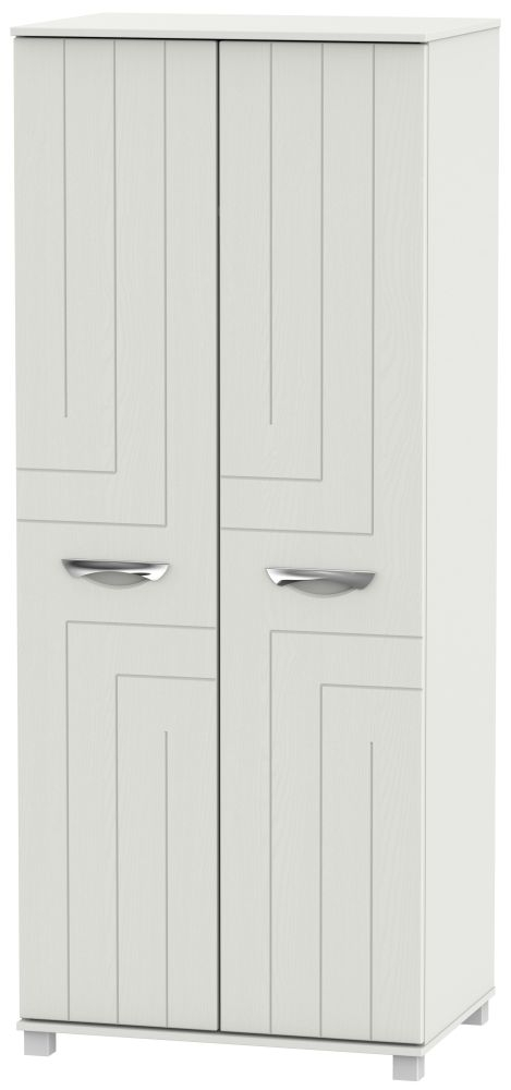 Somerset Light Grey Klein 2 Door Wardrobe