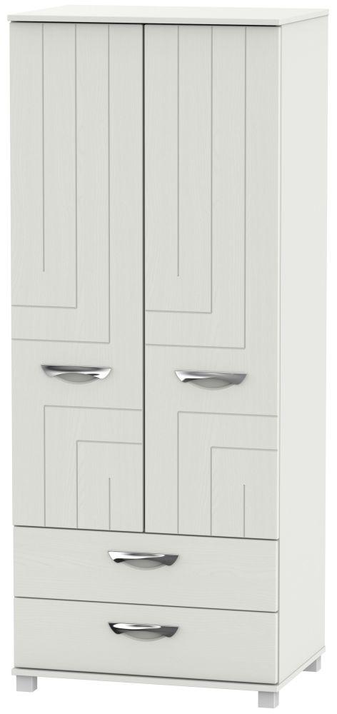 Somerset Light Grey Klein 2 Door 2 Drawer Wardrobe