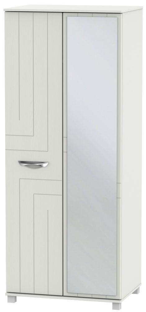 Somerset Light Grey Klein 2 Door Mirror Wardrobe
