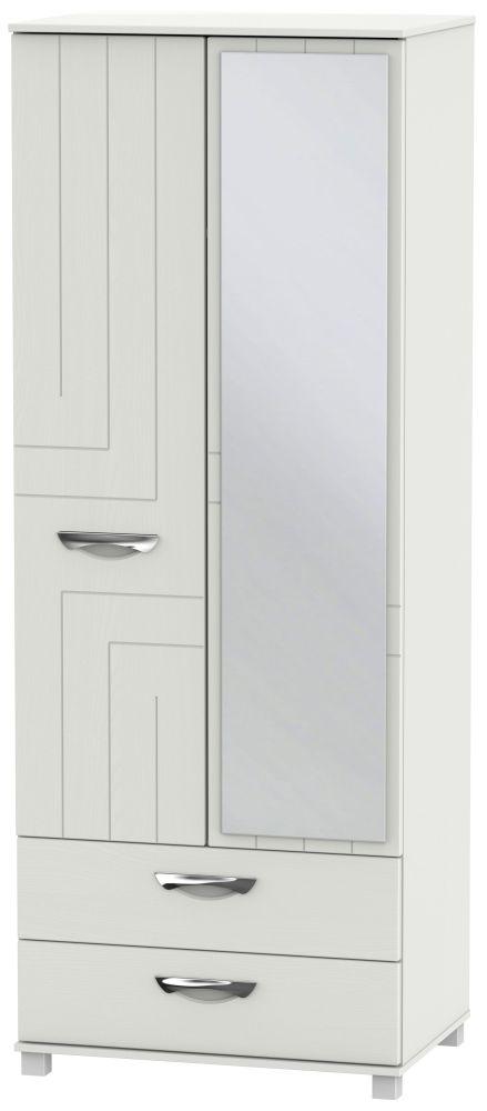 Somerset Light Grey Klein 2 Door Combi Wardrobe
